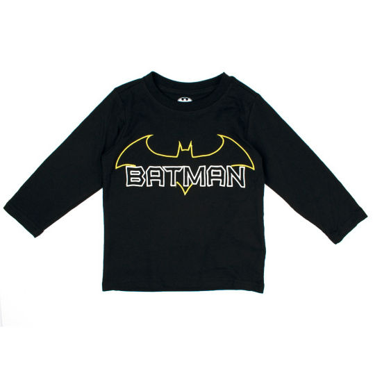 Batman Long Sleeve Crew Neck T-Shirt-Toddler Boys