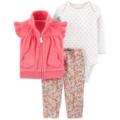 Carter's 3-pc. Bodysuit Set-Baby Girls