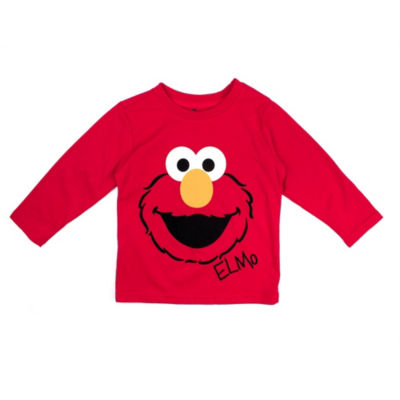 Elmo Long Sleeve Crew Neck T-Shirt-Toddler Boys