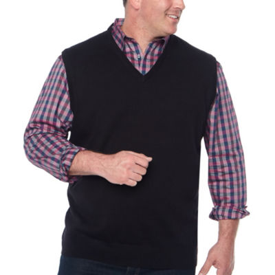 Claiborne V Neck Sweater Vest Big and Tall
