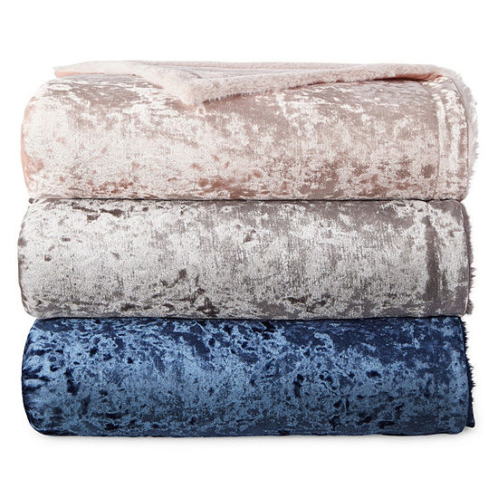 North Pole Trading Co Crushed Velvet Throw