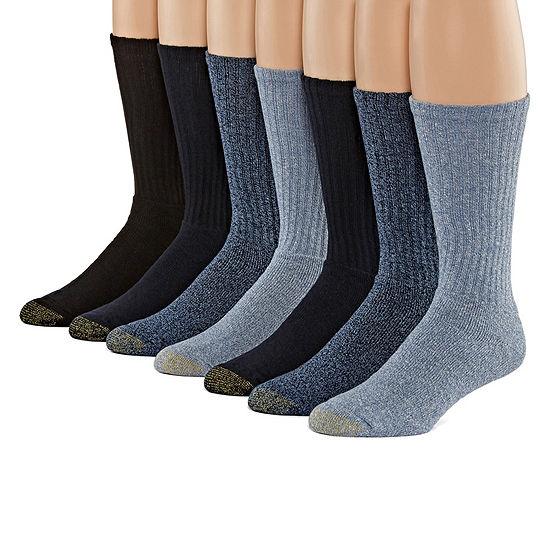 Gold Toe 6+1 Bonus Pair Crew Socks-Mens