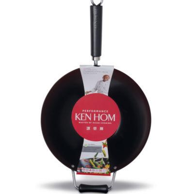 "Ken Hom Ken Hom 12.5"" Carbon Steel Wok Steel Dishwasher Safe Non-Stick Wok"