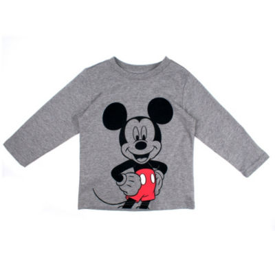 Mickey Mouse Long Sleeve Crew Neck T-Shirt-Toddler Boys