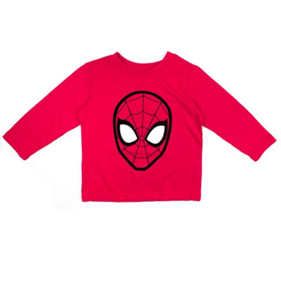 Spiderman Long Sleeve Crew Neck T-Shirt-Toddler Boys