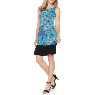 Ronni Nicole Paisley Sleeveless A-Line Dress