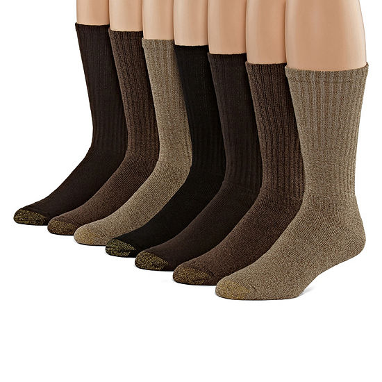Gold Toe 6+1 Bonus Pair Crew Socks-Mens