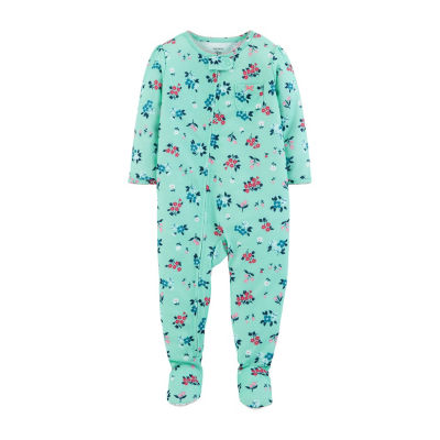 Carter's One Piece Footed Pajama - Baby Girl