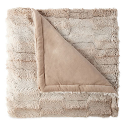 North Pole Trading Co Whistler Faux Fur Throw