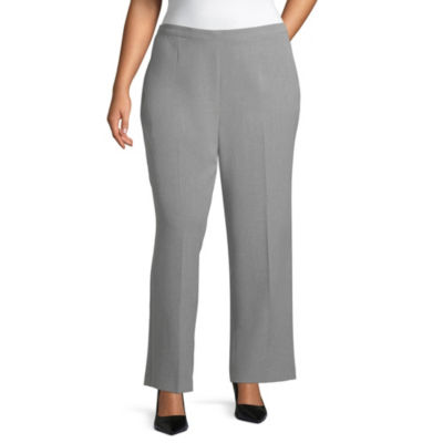 Alfred Dunner Classic Fit Woven Pull-On Pants-Plus