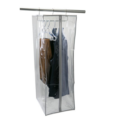 Kennedy International Crystal Clear Pvc Portable Suit Closet Hanging Organizers