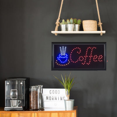 Lavish Home Neon LED Coffee Sign with Animation