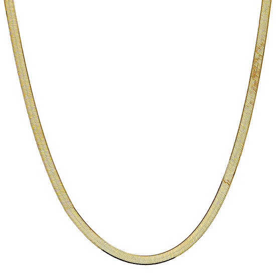 Solid Herringbone Chain Necklace