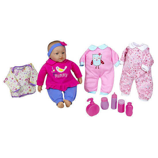 "Lissi 15"" Baby Doll Set W/ Extra Clothes & Accessories"