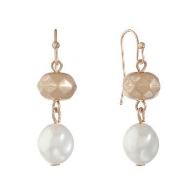 Liz Claiborne Cultured South Sea Pearl Drop Earrings