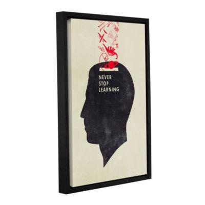 Never Stop Learning Floater-Framed Gallery WrappedCanvas