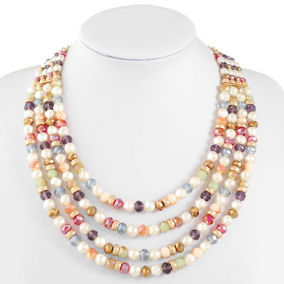 Liz Claiborne Womens Beaded Necklace