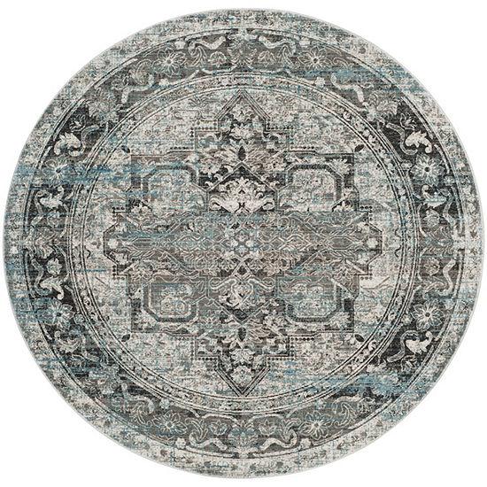 Safavieh Claremont Collection Clive Oriental Round Area Rug