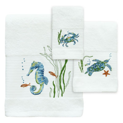 Bacova Guild Sea Life Serenade Embroidered Bath Towel Collection