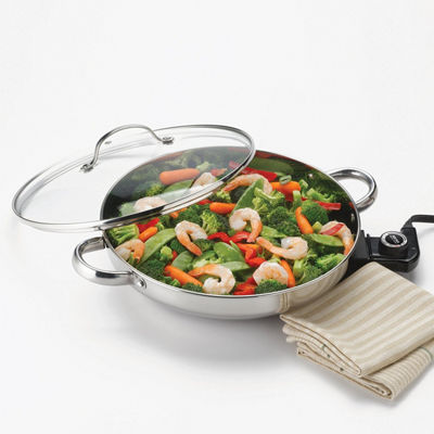 Aroma 2-pc. Stainless Steel Skillet