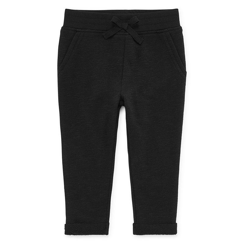 Okie Dokie Printed Pull-On Jogger Pants, Girls, Black, Size Newborn