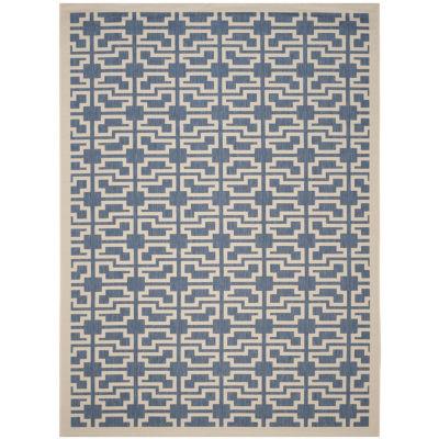 Safavieh Courtyard Collection Eddie Geometric Indoor/Outdoor Area Rug
