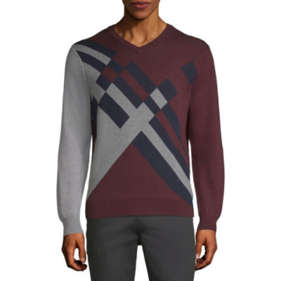 Axist Long Sleeve Color Block Sweater