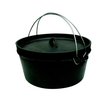 Stansport 8-Quart Cast Iron Camping Dutch Oven - Without Legs