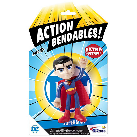 "Dc Comics Action Bendables! - 4"" Supermanaction Figure"""