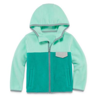 Okie Dokie Lightweight Fleece Jacket-Toddler Girls