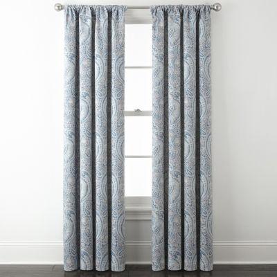 JCPenney Home Room Darkening Rod-Pocket Curtain Panel