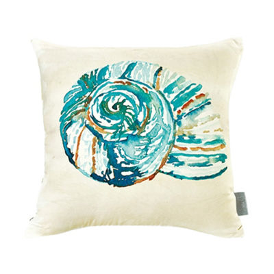 Sara B Conch Shell Square Pillow
