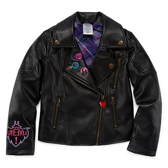 Disney Collection Girls Descendants Midweight Motorcycle Jacket Preschool / Big Kid
