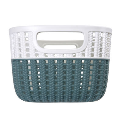 Sailor Knot Storage Tote With White Rim - Small - 9X7X5 Inch