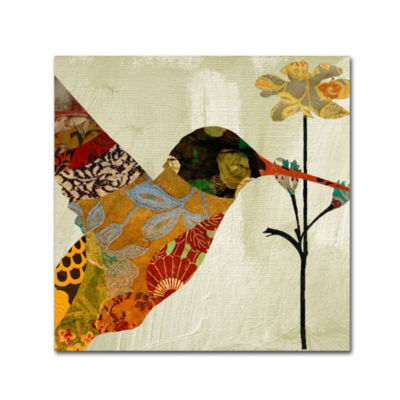Trademark Fine Art Color Bakery Hummingbird Brocade III Giclee Canvas Art