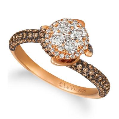 Grand Sample Sale™ by Le Vian® 1 1/4 CT. T.W. Chocolate Diamonds® & Vanilla Diamonds® in 14K Strawberry Gold® Chocolatier® Ring