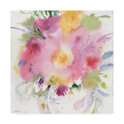 Trademark Fine Art Sheila Golden Summer Bouquet Giclee Canvas Art