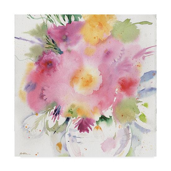 Trademark Fine Art Sheila Golden Summer Bouquet Giclee Canvas Art