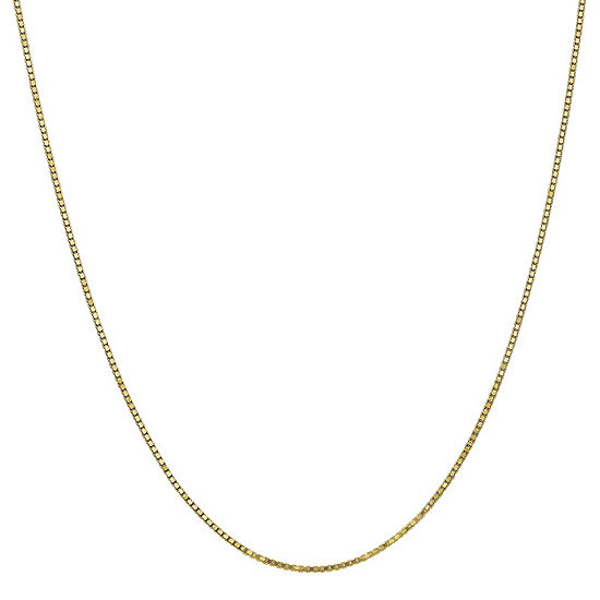 10K Gold Solid Box Chain Necklace