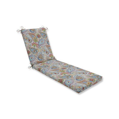 Pillow Perfect Gilford Festival Oversized Patio Chaise Lounge Cushion