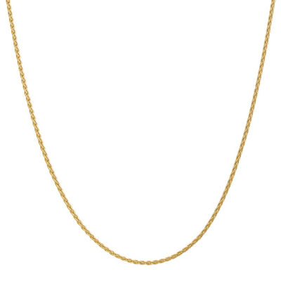 Solid Wheat 14 Inch Chain Necklace