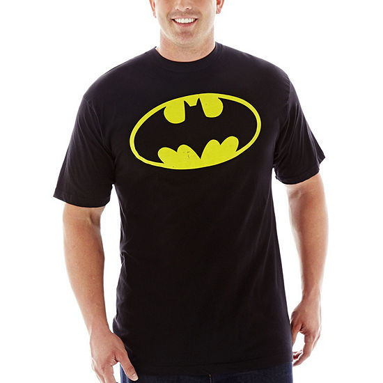 Big and Tall Mens Crew Neck Short Sleeve Batman Graphic T-Shirt