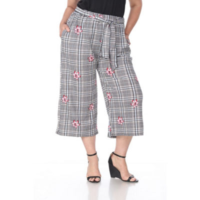 White Mark Gaucho Pants - Plus