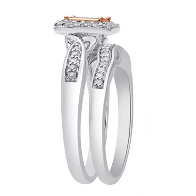 Surrounded by Love Womens 1/2 CT. T.W. Genuine White Diamond Sterling Silver Bridal Set
