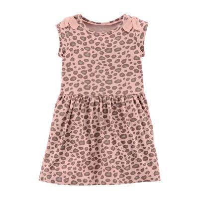 Carter's Short Sleeve Cap Sleeve Leopard A-Line Dress - Toddler Girls