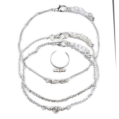 Arizona Womens 4-pc. Clear Jewelry Set
