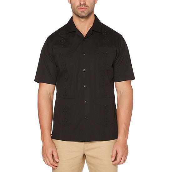 Cubavera Big and Tall Mens Short Sleeve Button-Front Shirt