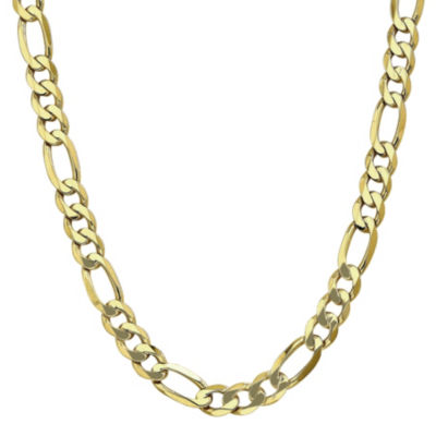 10K Gold 22 Inch Solid Figaro Chain Necklace