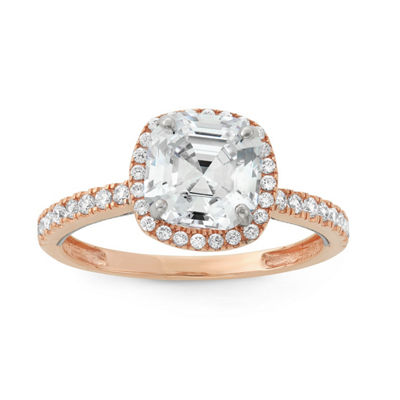 Womens 2 1/2 CT. T.W. White Cubic Zirconia 10K Gold Engagement Ring