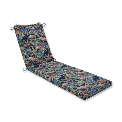 Pillow Perfect Flamingoing Lagoon Oversized Patio Chaise Lounge Cushion